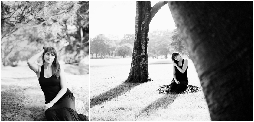 Black and white portrait Nela Sydney